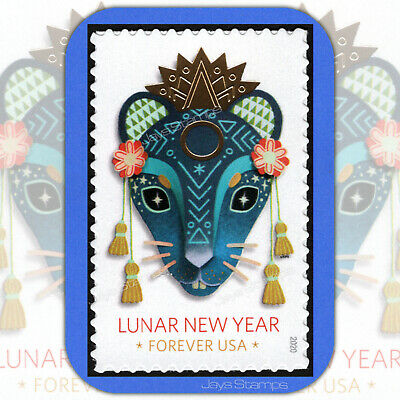 2020  YEAR of the RAT Lunar New Year USPS  Forever® Individual MINT Stamp  5428