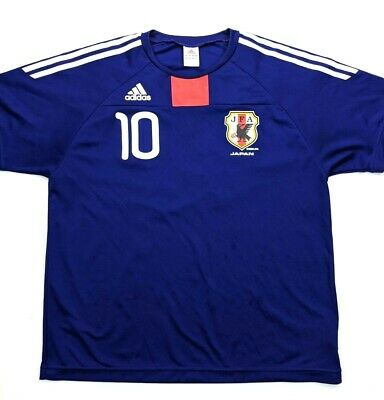 Adidas Japan National Team Mens Soccer Jersey Size Large 2009 JFA World Cup 10