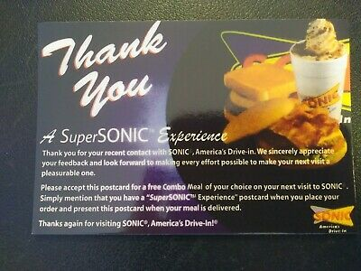 SONIC Combo Meal Voucher  FREE SHIPPING No Expiration