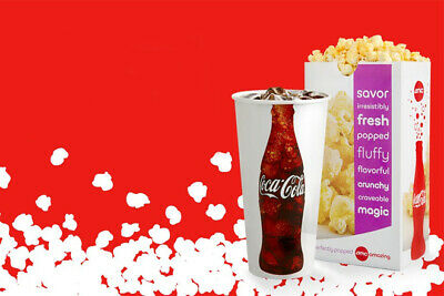 AMC Large Popcorn and Large Drink  Expires June 2020 Fast Delivery
