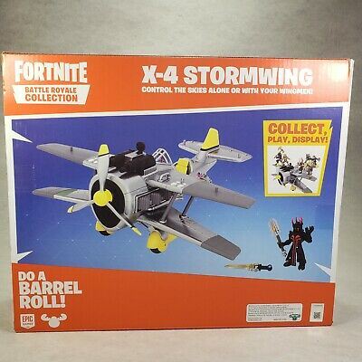 Fortnite Battle Royale Collection X-4 Stormwing Plane - Ice King Figure- NEW