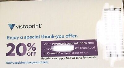 Vistaprint offers Offers 20 Off All No Expiration
