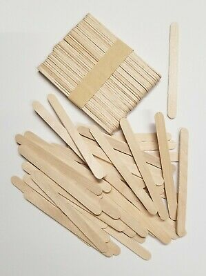 200 Pieces Wood Sticks Natural Wooden Craft Sticks Popsicle 4-12 x 38 NEW