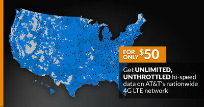 ATT 4G LTE Unlimited HOTSPOT Data NO THROTTLING NO CAPS WiFi 50-00