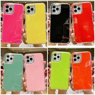 For iPhone 12 XS Max X XR SE 7- 11 Pro Clear Case Hard Shockproof transparent