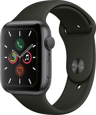 Apple Watch Series 5 44mm Space Gray Case Black Band - MWVF2LLA