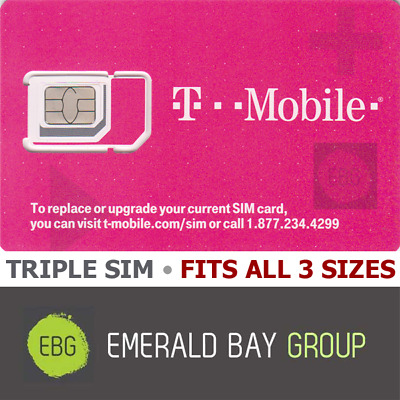 T-MOBILE 3in1 Triple Cut SIM Card  NANO • 4G LTE • ACTIVATE BY JAN 2023 • NEW