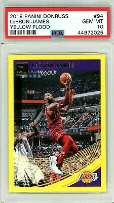2018 Lebron James Panini Donruss YELLOW FLOOD 94 PSA 10 Gem Mint Pop 3