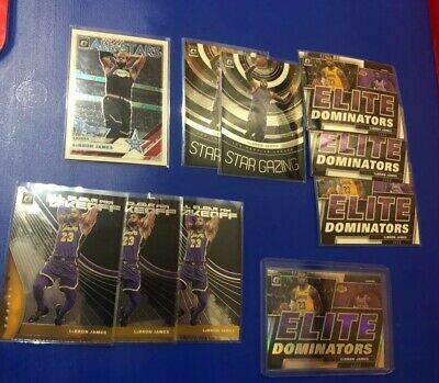LEBRON JAMES - 19-20 OPTIC INSERT LOT OF 10 W HOLOSILVER - LA LAKERS