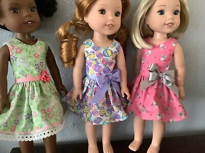 3 Dresses for Wellie Wisher  14Doll-A102