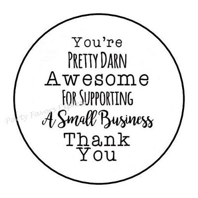 THANK YOU FOR SUPPORTING MY SMALL BUSINESS ENVELOPE SEALS LABELS STICKERS 1-5