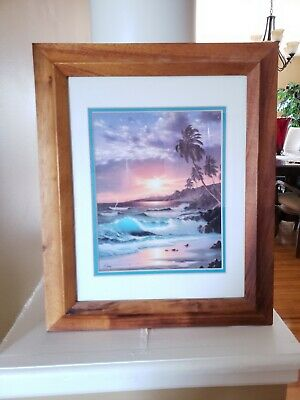Anthony Casay Tropical Print Double Matted 8x10 in Frame