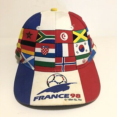 Vintage 98 World Cup France Official Snapback Cap Hat Flags RARE