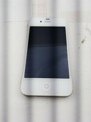 Apple iPhone 4s 16GB White A1387 Unlocked Damaged Read Carefully KD598