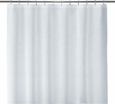 White Fabric Shower Curtain liner Mildew Resistant and Antimicrobial 72x72