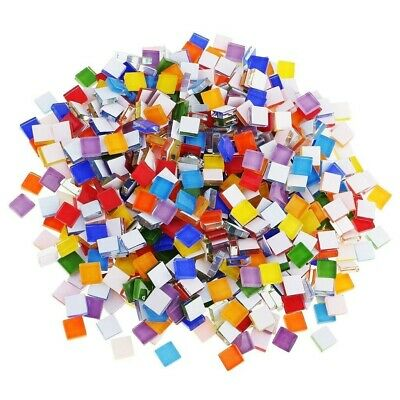 110x  Tiles Mosaic Stained Glass Pieces Color 1x1 For Art Craft Bulk Antique Hot