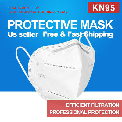 KN95 Protective 5 Layers Face Mask 50 PACK BFE 95 PM2-5 Disposable Respirator