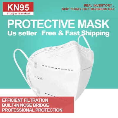 50 PCS KN95 Protective 5 Layer Face Mask Disposable Respirator BFE 95 PM2-5