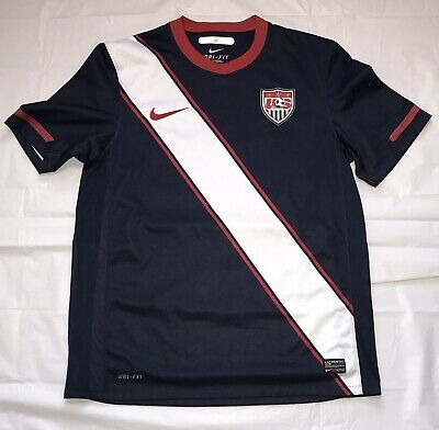 Nike USA Soccer Jersey World Cup 2012 Dri Fit 369253-451 Blue Size M