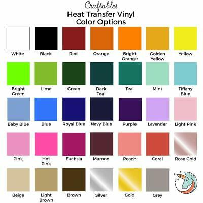 Craftables Heat Transfer Vinyl sheet Iron on HTV for Cricut Silhouette 12X10