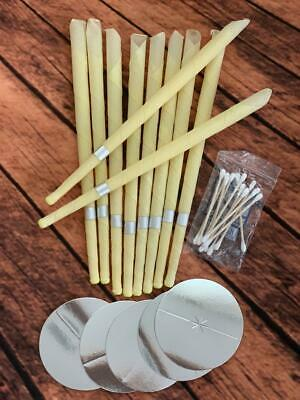 10pcs Ear Cleaner Wax Removal Candles Treatment Care Healthy Hollow Candles