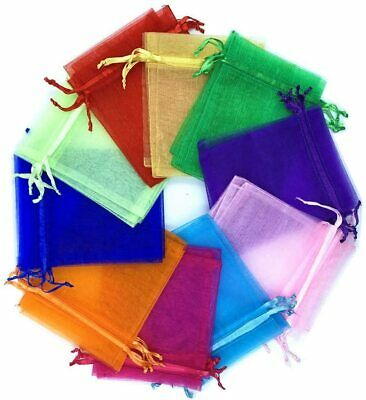 Organza Gift Bags with Drawstring Assorted Color Jewelry Pouches Wedding Party