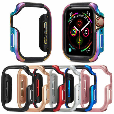For Apple Watch Series 6 SE 5Cover 44 40mm Bumper Protector Metal Aluminum Case
