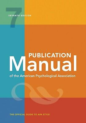 Publication Manual of the American Psychological Association 7th Edition P-D-F
