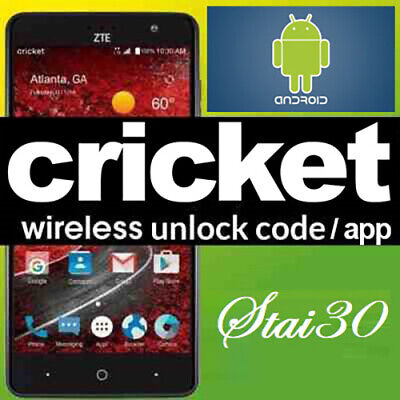 CRICKET UNLOCK CODECHECK SERVICE SAMSUNG ZTE LG MOTOROLA HTC ALCATEL NOKIA ICON