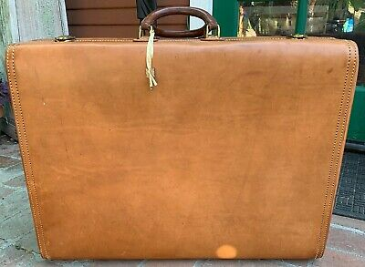 NEW HARTMANN Leather SUITCASE Vintage Pullman Never Used 25
