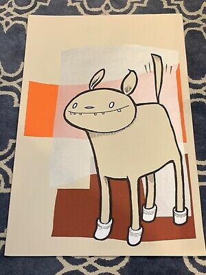 Dog in Socks 2006 Screen Print by Jay Ryan  The Bird Machine SN 46200 Art