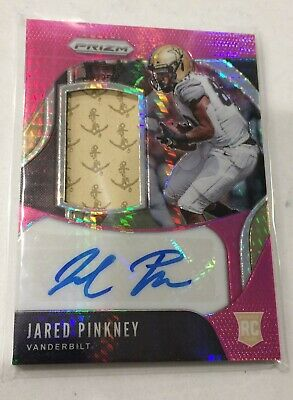 2020 Chronicles Draft Picks JARED PINKNEY Pink Prizm Rookie Patch Auto  25