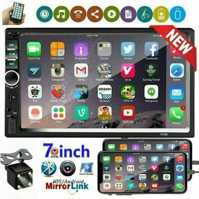 7 Double 2 DIN Touch Screen Car Stereo Radio Bluetooth USB AUX IN  MP5 - Camera