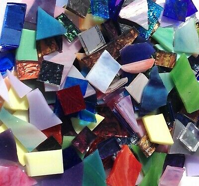 1 Pound Mosaic Stained Glass Scrap - TUMBLED