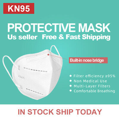 50Pcs KN95 Protective 5 Layers Face Mask BFE 95 PM2-5 Disposable Masks
