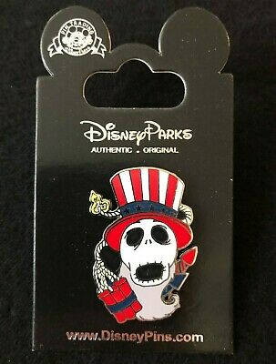 🧨 Exclusive Disney NBC Jack Skellington Patriotic Fourth of July Fireworks Pin