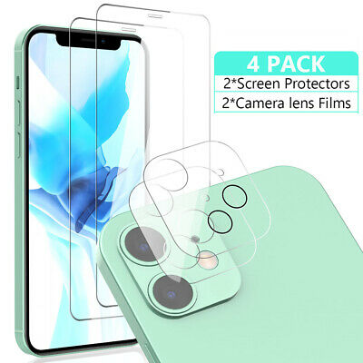 For iPhone 11 12 Pro Max Tempered Glass Screen Protector-Camera Lens Protector