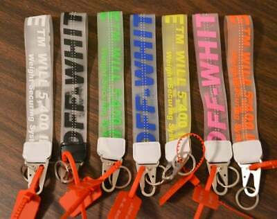 New Off-White Industrial Clear Keychain Lanyard
