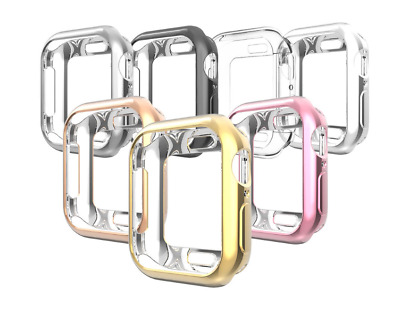 7 Pack Bumper Protector Case Cover for Apple Watch 38 42 40 44mm Series 6 SE 5 4