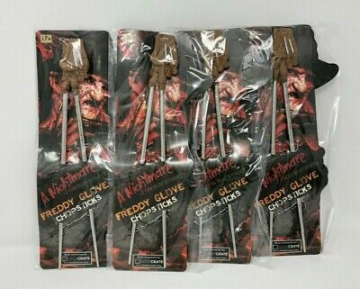 Freddy Glove Chopsticks Freddy Krueger A Nightmare on Elm Street - 4 pairs