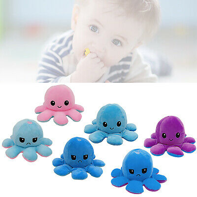 Double-Sided Flip Reversible Octopus Plush Toy Squid Stuffed Doll Toys Hot kids