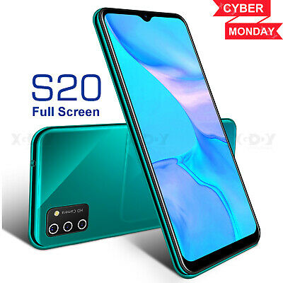 S20 2020 New Unlocked Cell Phone Android 9-0 Smartphone Dual SIM Quad Core Cheap