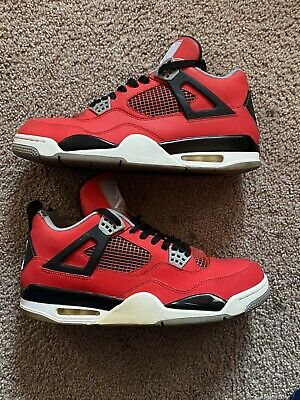 NIKE AIR JORDAN 4 RETRO IV RED BLACK CEMENT GREY WHITE TORO OG SZ  12 308497-603