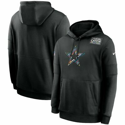 Dallas Cowboys Nike Mens 20202 Crucial Catch Authentic Sideline Hoodie -Black