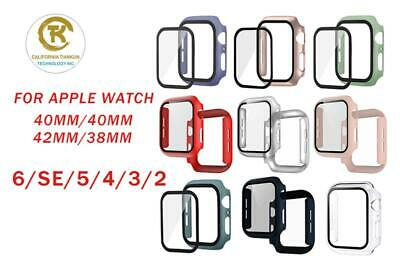 2 Pack For Apple Watch Series 456SE 4044mm Screen Protector Case Full Cover