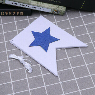 1pc Fourth of July Banner Decorative Hanging Star Felt Garland Party Favor