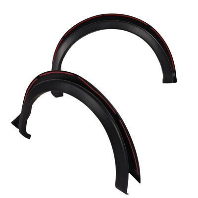 FIT FOR 09-14 FORD F150 MATTE BLACK FENDER FLARE WHEEL PROTECTOR PAINTABLE