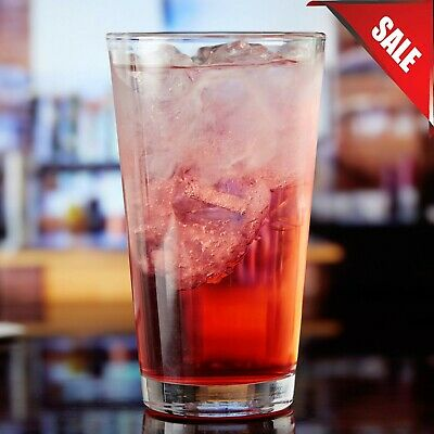 24Pack 16 oz- Clear Restaurant Bar Rim Tempered Beer Mixing Glass Pint Glass