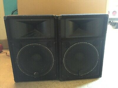 Pair of Yamaha S115V Club Series V Speaker Cabinet And Stands-