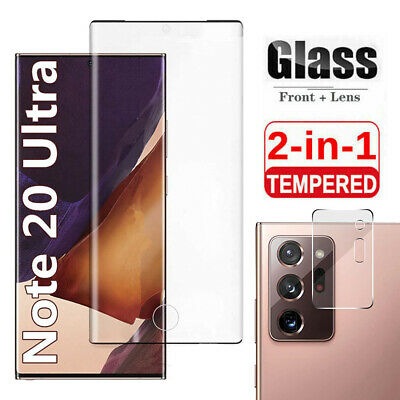 Samsung Galaxy Note 20 Ultra Tempered Glass Screen Protector  Camera Lens Cover
